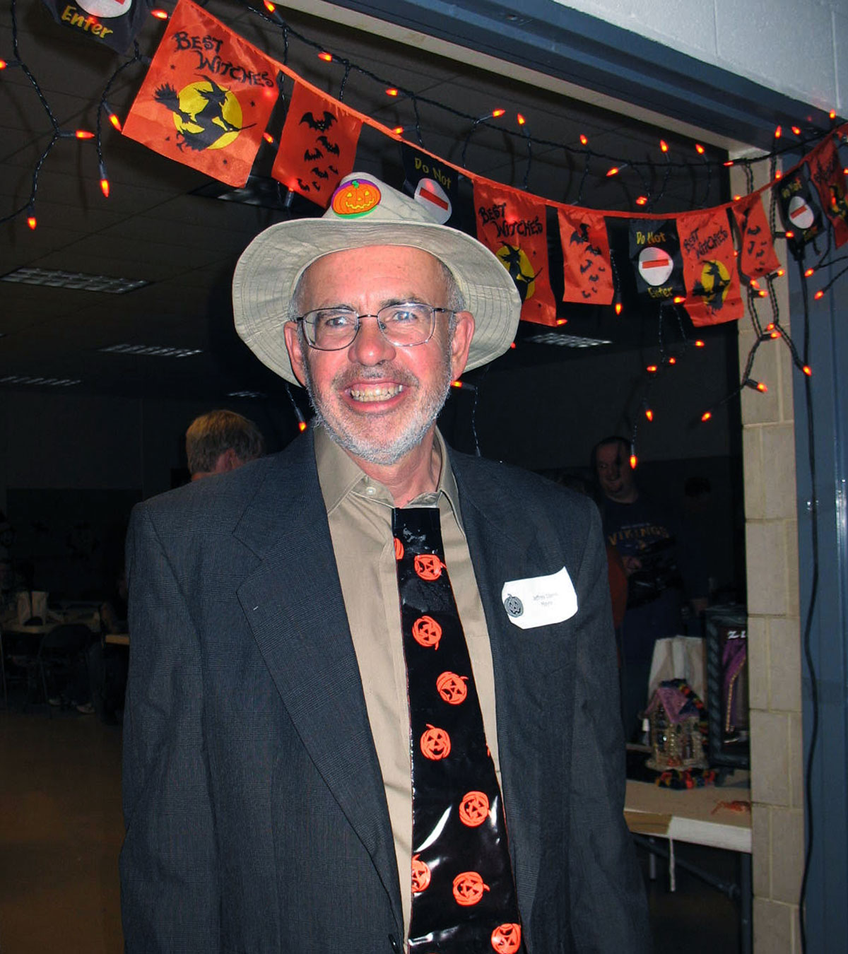 Jeff dressed up for a Halloween party at Lauderdale City Hall